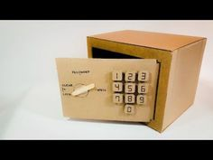 How to Make Safe with Combination Lock from Cardboard Spy Birthday Parties, Birthday Gifts For Sister, Diy Birthday, Escape Puzzle, Escape Room Puzzles, Homemade Crafts, Diy And Crafts, Crafts For Kids, Cardboard Sculpture