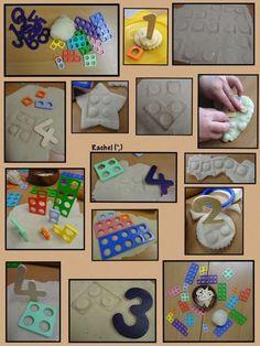 "Play Dough and Numicon from Rachel ("",) Maths Eyfs, Eyfs Classroom, Teaching Math, Preschool Activities, Preschool Learning, Classroom Ideas, Early Years Maths, Early Years Classroom, Early Math"