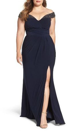ae8e9be4855 25 of the MOST Gorgeous Plus Size Mother of the Bride Dresses. Off Shoulder  GownCold ShoulderOff The ShoulderFormal ...