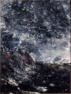 Strindberg, August (1849-1912) - 1894 Marine Reef (Musee d'Orsay, Paris, France)    Oil on cardboard; 39.9 x 30 cm.    Johan August Strindberg was a Swedish playwright, novelist, poet, essayist and painter