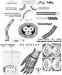 Marquesan patterns   langsdorff s illustration of the mata komoe pattern 9 and ipu designs ...