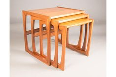 Nest Of Three Retro Teak Coffee Tables, G Plan Quadrille photo 1