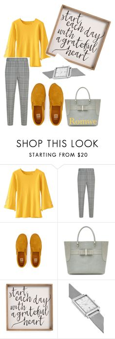 """Romwe"" by michelle-thompson-v ❤ liked on Polyvore featuring Alexander Wang, Larsson & Jennings, yellow, romwe, long, jumper and sleeve"