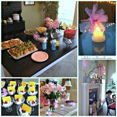 Summer Baby Shower, baby shower craft and food