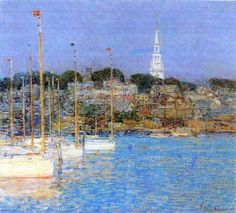 Childe Hassam - Cat Boats, Newport