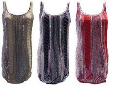 Womens Ladies New Long Black & Beige Sequin Embellished Dress (Sizes 8 - 16)