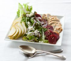 Beets are a great source of folic acid, potassium, calcium and antioxidants (betacyanin), which gives them their rich red colour. Quick Appetizers, Easy Appetizer Recipes, Easy Salad Recipes, Healthy Recipes, Healthy Food, Healthy Eating, Salad Recipes For Dinner, Quick Dinner Recipes, Side Dish Recipes