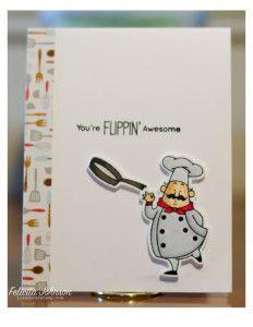 MFT:  Recipe For Happiness,, Copics: C1,3,5 R35,37 E50,53 BV20, 100 T5,6, Lisa Luvs 2 Stamp