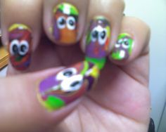 Water Marble Monster Nails 2011