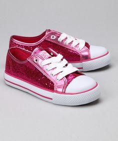 These Hot Pink Sparkle Disco Sneaker by Gotta Flurt is perfect! #zulilyfinds