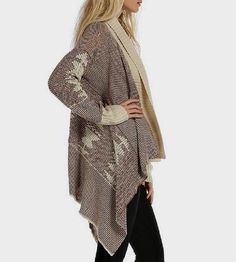 This slouchy sweater is a lovely addition to your minimalist wardrobe. Choose black or burgundy. Both colors have a pretty texture that looks great over black jeans and a tee. @ashleyfischer