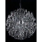 72 light polished chrome  Contemporary Crystal Chandelier