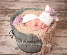 Crochet Baby Unicorn Hat and Critter Cape Set by LionandLambPhotos, $35.00