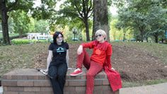 We have a cool kid and a blind troll...... And then there's Karkat..............