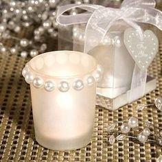 Pearl Design Candle Holder Favors