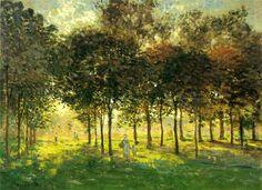 bofransson:  Claude Monet - La promenade d'Argenteuil, soleil couchant (1874)