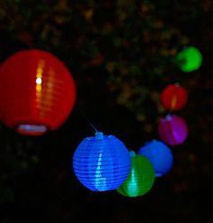 String Lights Sainsburys : 10 Multi Coloured LED Lantern Solar Lights - LED Garden Lights Products I Love Pinterest