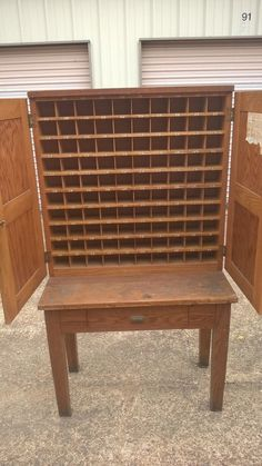 RARE ORIG ANTIQUE 1930s WOODEN WOOD POST MASTER OFFICE MAIL SORTER ...