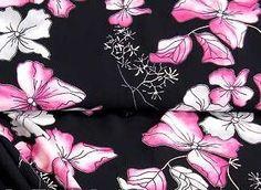 Bedrukte viscose zwart met rose bloemenprint - stoffen | kledingstoffen - stoffen | kledingstoffen
