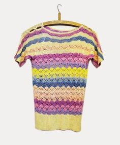 Ideal for cool summer evenings - 1920s multi coloured jumper, available at Vintage Modes.