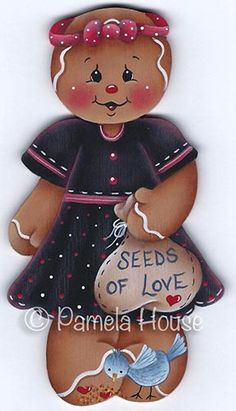 The Decorative Painting Store: Seeds of Love Ginger Ornament Blank, Surfaces for Pamela House Patterns