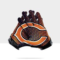 Throw your hands up! Football Equipment, Football Gear, Football Gloves, Football Stadiums, Sport Football, Nfl Bears, Chicago Bears, Nike Gloves, All Nfl Teams