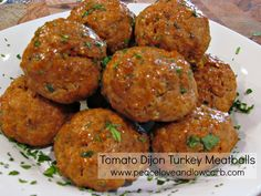 Tomato Dijon Turkey Meatballs - Low Carb, Gluten Free, Whole30