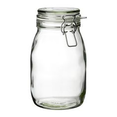 "IKEA - KORKEN, $4.49 Jar with lid, The jar has an airtight seal, which makes it perfect for preserving your favorite homemade jams and jellies.The airtight seal helps food retain its flavor and aroma longer. Diameter: 4 7/8 "" Height: 8 "" Volume: 2 qt"