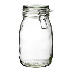 IKEA - KORKEN, Dóza s vrchnákom, Dóza má vzduchotesný vrchnák, vďaka ktorému je ideálna na skladovanie domácich zaváranín a džemov.Vzduchotesný vrchnák pomáha dlhšie zachovať chuť a arómu jedla.Vo vzduchotesných dózach vydrží jedlo dlhšie čerstvé. Uskladnite v nich suché potraviny a znížite tak množstvo jedla, ktoré končí v koši.Vďaka priehľadnej dóze vždy nájdete to, čo potrebujete, bez ohľadu na to, kde je umiestnená.