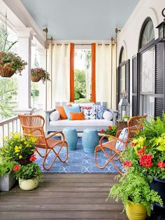 You will be excited to display your porch! There are lots of big screened in porches where it's possible to do just about anything to them to prepare for Spring weather. It allows you to brighten up your porch for… Continue Reading → Outdoor Rooms, Outdoor Living, Outdoor Decor, Outdoor Seating, Outdoor Curtains, Outdoor Lounge, Deck Seating, Front Porch Curtains, Front Porch Seating