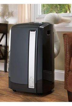 The Pinguino 4-in-1 All Season Portable Air Conditioner quickly cools or warms spaces up to 480 square feet--ideal for a bedroom or home office. The unit offers four modes to choose from: cooling, dehumidifying, fan, and heating.
