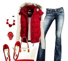 Super drawn to red!!!  Love this vest!!