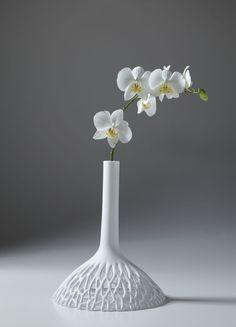 Vase / originelles Design / aus Limoges-Porzellan HEAVEN & EARTH 22 22 EDITION DESIGN