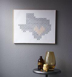 giant cross stitch wall art