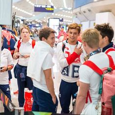 The official photoshoot taken by Team GB when they back to London from Rio.  #TomDaley #DanGoodfellow #ChrisMears #JackLaugher #diver #dive #diving #TeamGB