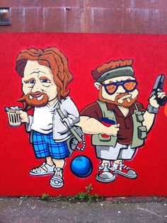 The Big Lebowski graffiti found in Belfast.--haha Ireland...I'd love to go to Belfast and see this!