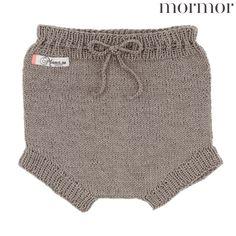 Mormor.nu brune babyunderbukser i uld 0-6 mdr