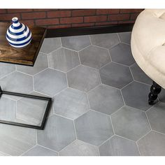 Ivy Hill Tile Langston Hexagon x Porcelain Field Tile in Gray Home Decor Kitchen, Tile Floor, Outdoor Kitchen Design, Home Improvement, Ivy Hill Tile, Flooring, Bathroom Flooring, Shower Floor, Kitchen Design