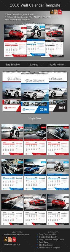 2018 Wall Calendar Template Walls And Calendar Design