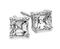 10 year anniversary gift? I love Asscher cut diamonds.  I got them for my 40th bday in April 2014 and haven't taken the out. I LOVE THEM!