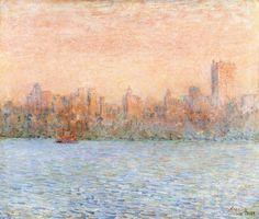bofransson:    October Haze, Manhattan Frederick Childe Hassam - 1910