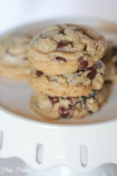 Healthier Whole Wheat Chocolate Chip Cookies with Coconut Oil @Jenny Flake, Picky Palate