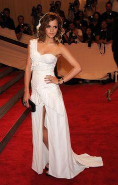 Emma Watson at Metropolitan Museum of Art's Costume Institute Ball, 2010.