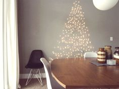 cool way to get a festive christmas tree / chanukah bush into a small space