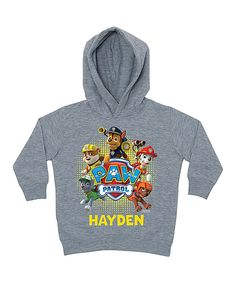 Gray 'Paw Patrol' Personalized Hoodie - Toddler & Boys