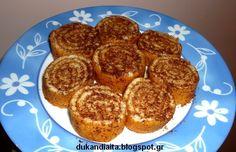 Ένα πολύ νόστιμο γλυκό που μπορούμε να φάμε ακόμα και στη φάση της επίθεσης! Τη συνταγή τη βρήκα στο site της Laura Ada... Dukan Diet Recipes, Stevia, I Foods, Healthy Living, Recipies, Muffin, Food And Drink, Low Carb, Sweets