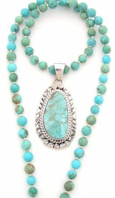 Four Corners USA Online American Artisan Jewelry - Dry Creek Turquoise Pendant 17 to 20 Inch Adjustable Bead Necklace Native American Silver Jewelry, $295.00 (http://stores.fourcornersusaonline.com/dry-creek-turquoise-pendant-17-to-20-inch-adjustable-bead-necklace-native-american-silver-jewelry/)