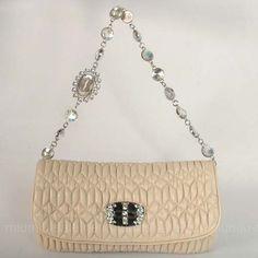 Miu Miu Cream Shoulder Bags