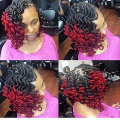 Loc waves, curls and color done at Natural Textures Salon in Maryland. This style is beautiful @pstyles3! Perfect for work! #NaturalHairDoesCare #werkingitwednesday #naturalistachic #nhdclocs #nhdcsalonspotlight