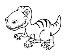 Dibujo de Dinosaurio velociraptor para colorear